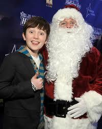 Greyson and santa :D