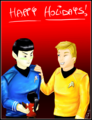 Happy Trekmas - spock-and-uhura fan art