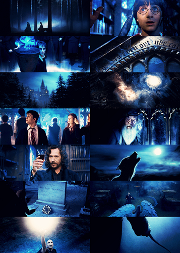 Harry Potter in blue