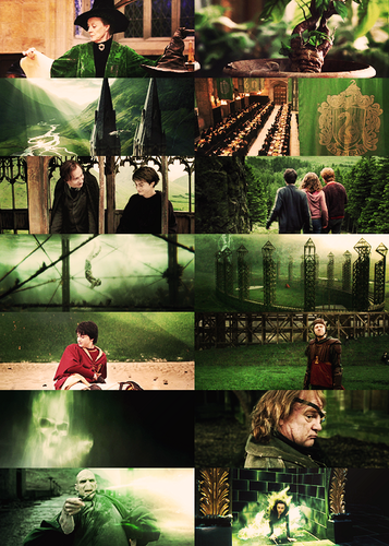 Harry Potter in green