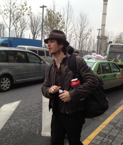 Ian & Nina leaving Shanghai
