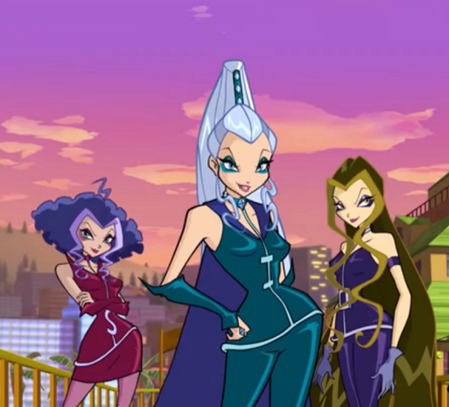 winx The Trix wallpaper with anime entitled Icy Darcy and Stormy