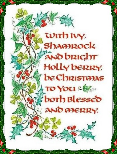 Irish Christmas card