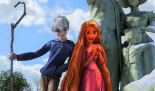 Jack Frost - Rise of the Guardians wallpaper titled Jack Frost and Rapunzel