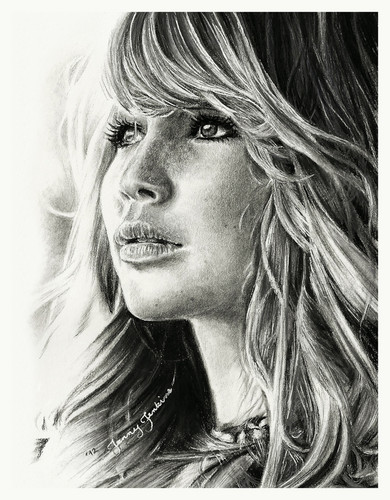 Jennifer lawrence wallpaper with a portrait called jennifer lawrence pencil drawing