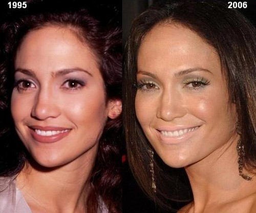 Jennifer Lopez then and now, before and after 1995 2006