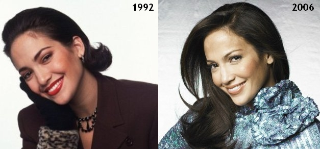 Jennifer Lopez then and now, before and after 1992, 2006