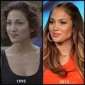 Jennifer Lopez then and now before and after (1995 & 2012)