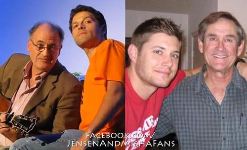 Jensen & Misha with their dads