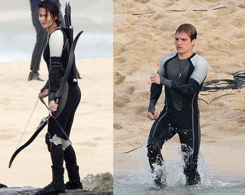 Josh & Jen as Peeta & Katniss