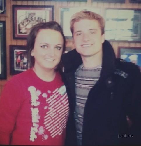 Josh with a fan