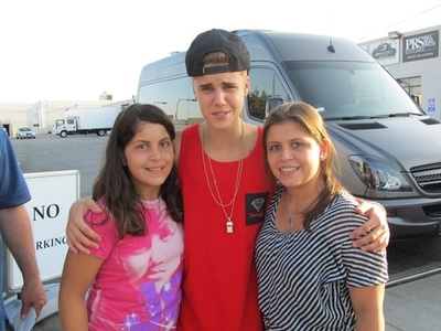 Justin With fans