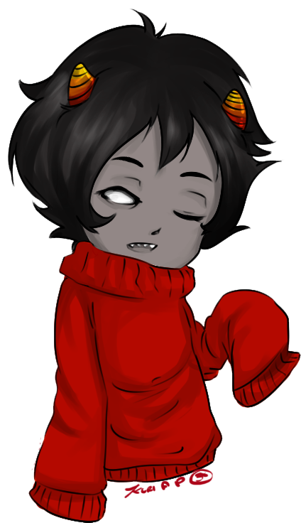 Kankri in that adorable sweater of his~!