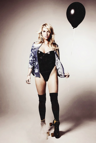 Ke$ha wallpaper possibly containing a hip boot, a playsuit, and tights entitled Ke$ha