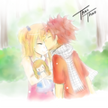 Kiss in the forehead ♥ - natsu-x-lucy fan art