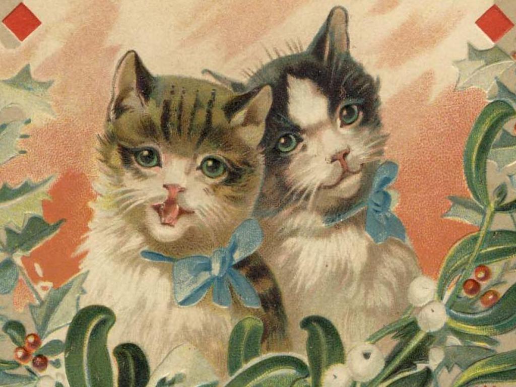 Открытки с кошка с котятами 76
