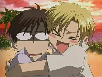 ouran high school host club wallpaper with anime titled Kyoya and Tamaki