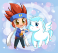 Little Gingka and pegasus