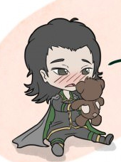 Loki and his teddy भालू