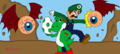 Luigi Gets His Hero On: Hooray for 10 Chapters! - yoshi fan art
