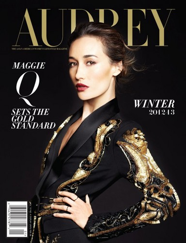 Maggie Q wallpaper possibly with a well dressed person and a portrait entitled Maggie Q - Audrey Magazine 2012