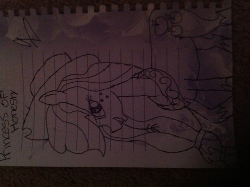 Mah drawing of applejack when she's a Princess
