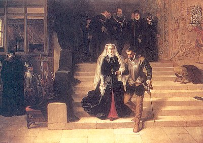 Mary Stuart being brought to her execution