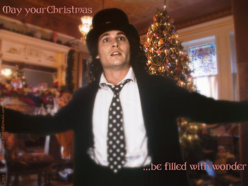 Benny and Joon wallpaper with a business suit and a well dressed person titled May your Christmas ...be filled with wonder