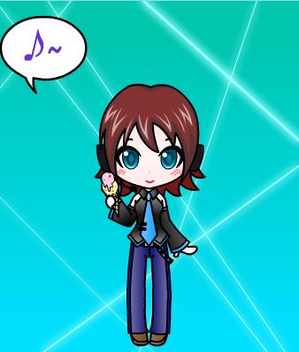 Me as a Vocaloid/My OC Ongakuno Otenbasan (New look)