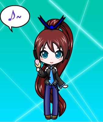 Me as a Vocaloid/ My OC Ongakuno Otenbasan (Old look)