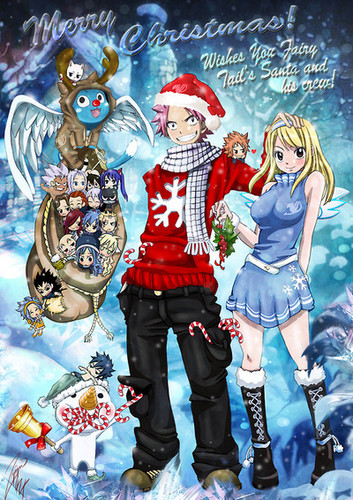 Fairy Tail immagini Merry Natale wallpaper and background foto ...