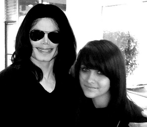 Paris Jackson wolpeyper with sunglasses called Michael Jackson & Paris Jackson