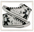 Michael Jackson hand painted black/white shoes - michael-jackson photo