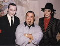 Michael With Manager, Frank DiLeo And Pee Wee Herman - michael-jackson photo