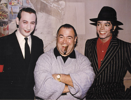 Michael With Manager, Frank DiLeo And Pee Wee Herman
