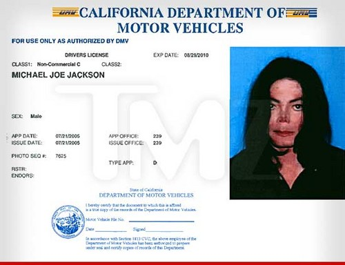 Michael's driving license