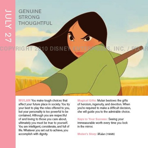 Mulan in Disneystrology book