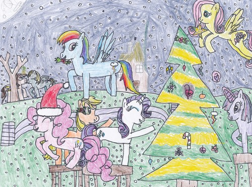 My Christmas Pony Drawing. Merry Christmas!