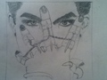 My Drawing of Adam, rough copy - adam-lambert photo