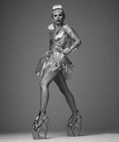 Lady Gaga fond d'écran possibly with hosiery and a hip boot entitled NEW outtakes from Mariano Vivanco photoshoot (2011)