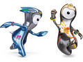 Olympic mascots Wenlock and Mandeville London UK Olympic games0 views