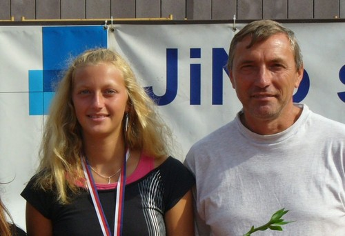 Petra and her father in 2006