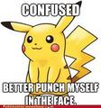 Pikachu is confused or just dumb - pokemon photo