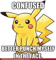 Pikachu is confused hoặc just dumb