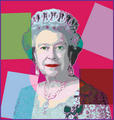 クイーン Elizabeth II Digital Art