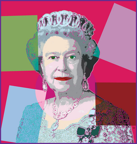 Ratu Elizabeth II kertas dinding called Queen Elizabeth II Digital Art