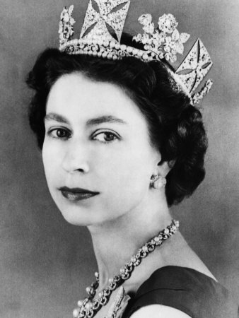 Queen Elizabeth II wallpaper possibly with a bouquet, a mantilla, and a portrait titled Queen Elizabeth II