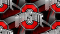 RED BLOCK O WHITE OHIO STATE ON AN ABSTRACT - ohio-state-buckeyes wallpaper