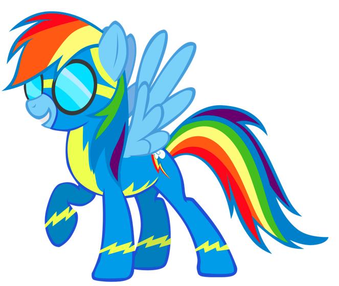 Amazoncom My Little Pony Flip and Whirl Rainbow Dash