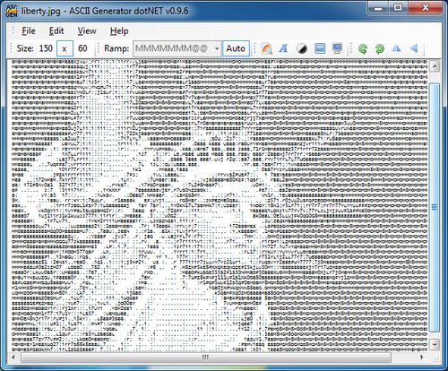 ngẫu nhiên ASCII from http://diggfreeware.com/free-ascii-art-generator-for-windows/